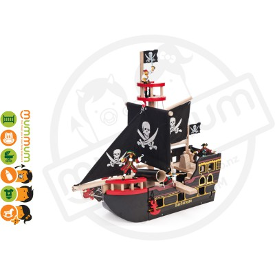 Le Toy Van Barbarossa Ship Big Wooden Pirate Ship