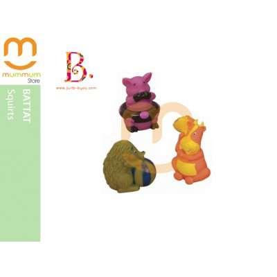 Battat Squirts Bath Toy Pig Cow Hedgehog 1-5Yr