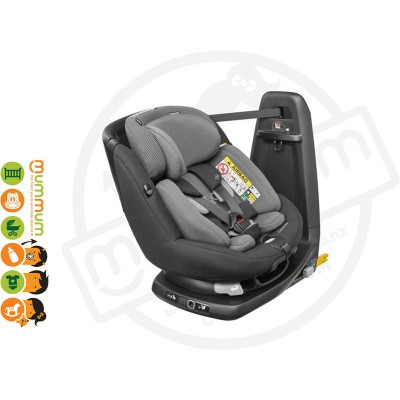 Maxi Cosi Axissfix Plus Convertible Car Seat Black Raven Swivel Birth-4Y IsoFix