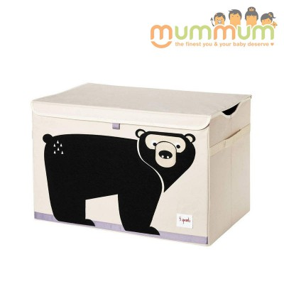 3 Sprouts Toy Chest Bear Ours 61x37x38cm