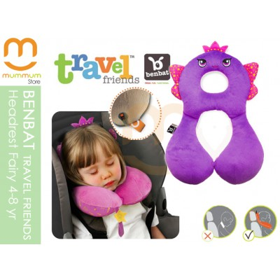 Benbat Travel Friends Total Support Headrest, 4-8years (Fairy)