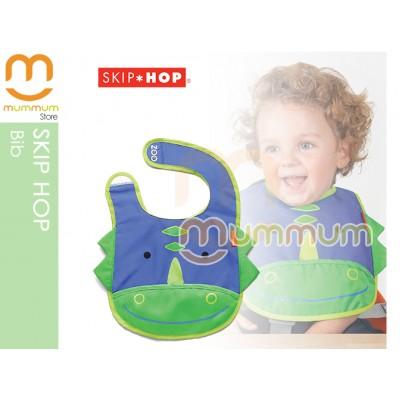 Skip Hop Zoo Tuck-Away Bib Dinosaur PVC Free