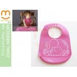 Modern Twist Silicon Bucket Bib Elephant Pink