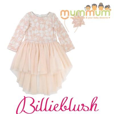 BillieBlush Dress Ceremonie Pale Pink with Headband