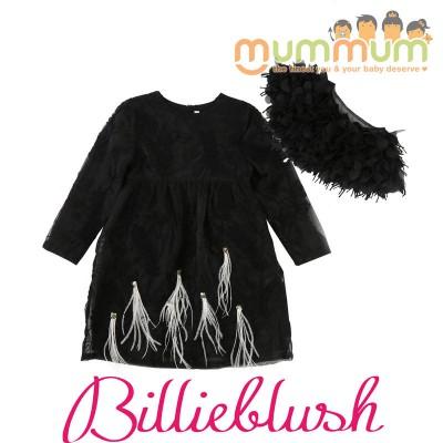 BillieBlush Dress&Removable Collar Ceremonie Black