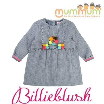 Billieblush Winter Dress Denim Blue