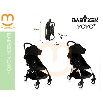 Babyzen YOYO+ Black Colour Carry on Stroller Pre order ETA NOV 2018