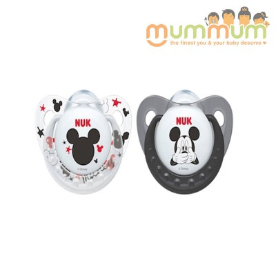 Nuk Latex Soother Size 2, 6-18months - Mickey Design, Black Colour