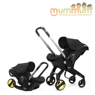 Doona Infant car seat Stroller All In One with Base -- Black