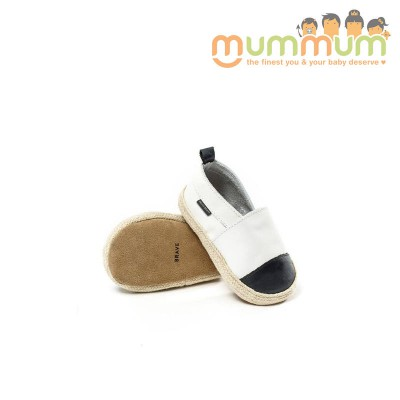 Pretty Brave Espadrille White with Black Toe S/L