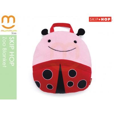 SKIP HOP ZOO Travel Blanket Pillow Ladybug