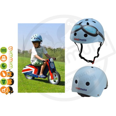 Kiddimoto Adjustable Blue Goggle Helmet