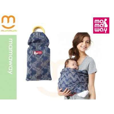 Mamaway Baby Ring Sling - Blue Mickey Print