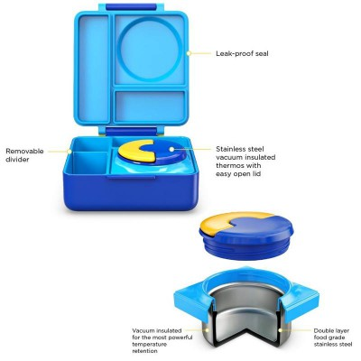 OmieLife Blue Sky OmieBox Lunchbox With Thermal Food Jar