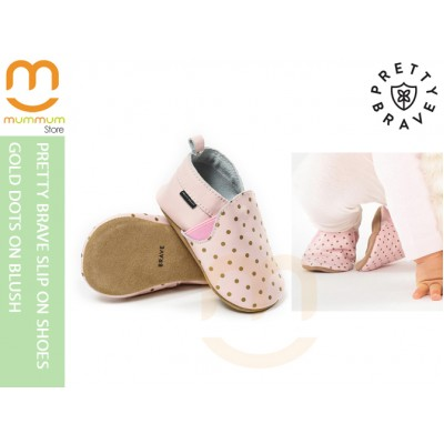 Pretty Brave Slip On Shoes Blush With Gold Spots