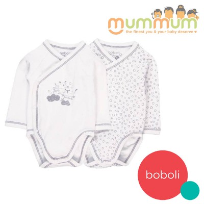 Boboli Pack 2 Bodys Interlock