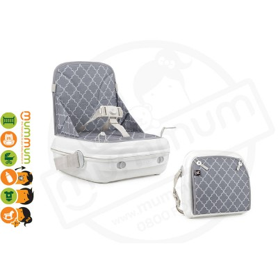 Benbat YummiGo Portable Booster Chair Feed & Go Storage Grey 9-36 months