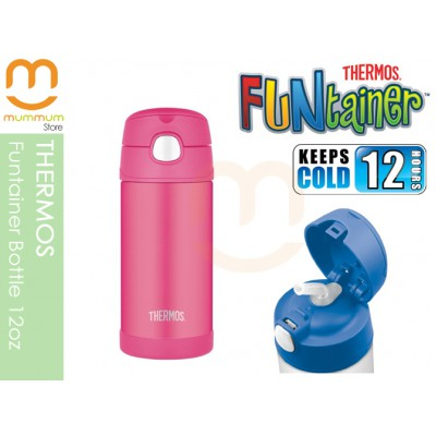 Thermos Vacuum Straw Bottle Funtainer Rose Pink