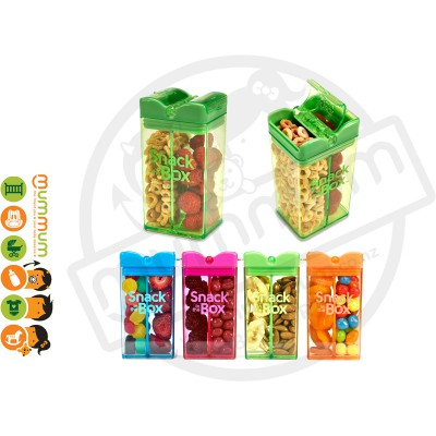 Snack In The Box 12oz/355ml Divided Snack Box - Green