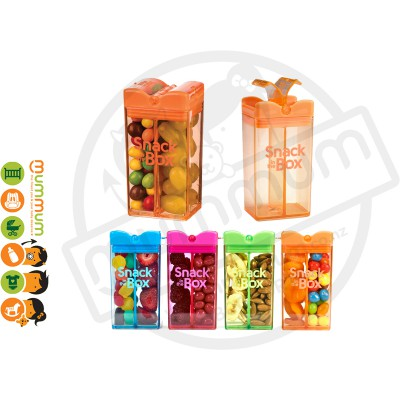 Snack In The Box 12oz/355ml Divided Snack Box - Orange