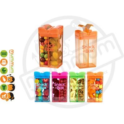 Snack In The Box 12oz/355ml Divided Snack Box - Orange