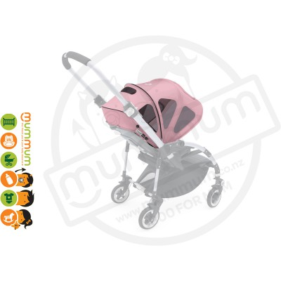 Bugaboo beeq3 breezy sun canopy Pink