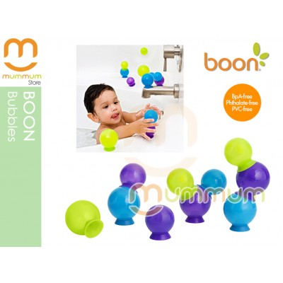 Boon Bubble Suction Cup Bath Toys 10Pcs  (Blue)