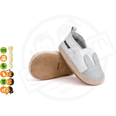 Pretty Brave Espadrille White Rabbit First Walker Slilpper