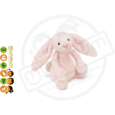 Jellycat Bashful Pink Rattle Bunny Ultra-Soft