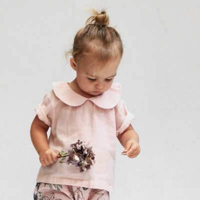 Burrow & Be Dusty Rose Girls Blouse