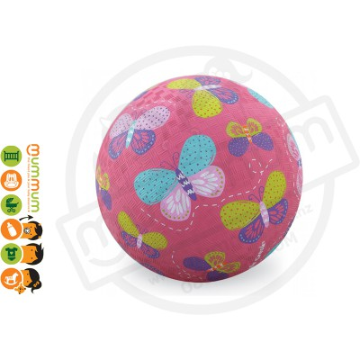 "Crocodile Creek 7"" Playground Ball Butterflies Pink"