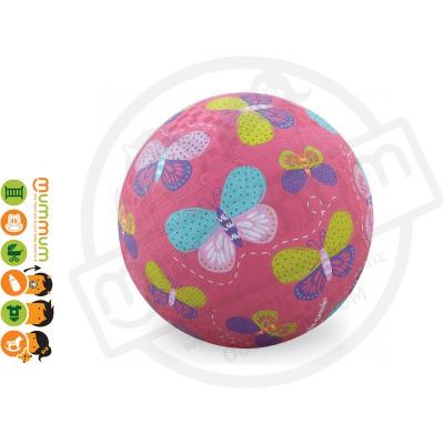 "Crocodile Creek 7"" Playground Ball Butterflies Pink"