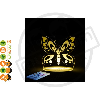 Aloka Night Light Butterfly Multi Colour With Remote Control