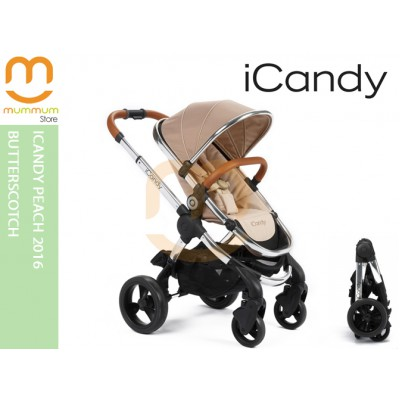 iCandy Peach 2016 Butterscotch Most Compact Double Stroller