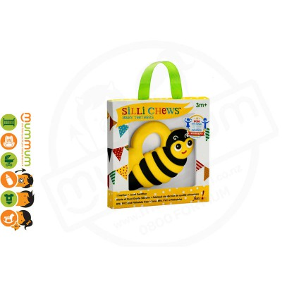 Silli Chews Buzz Bee, Food Grade Silicone, BPA, PVC, Phthalates free 3m+