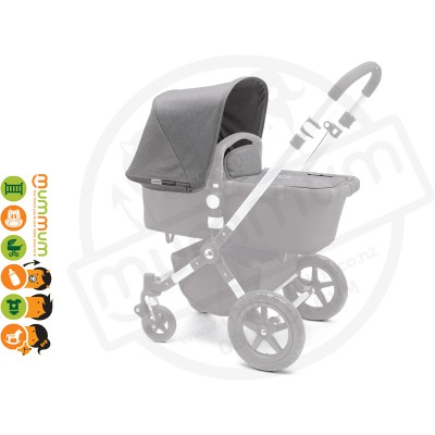 Bugaboo Cameleon3 Tailored Fabric Set - Grey Melange