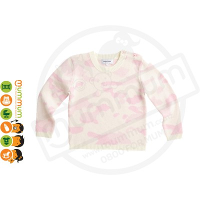 Atelier Child The Camo Sweater Pink Size 4/5Y