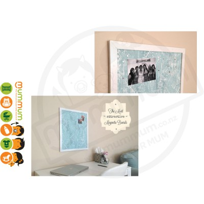 Maggie Magnetic Board - Canal Blue Fabric