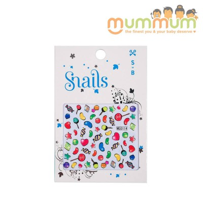 Snails Nail Stickers Candy Blast