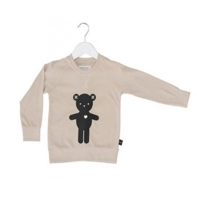 HUXBABY HB333 Heart Bear Light Sweatshirt Kids Size 1-5Y