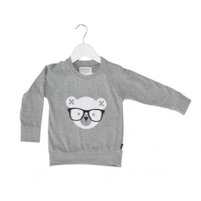 HUXBABY HB330 Nerd Bear Light Sweatshirt Kids Size 1-5Y