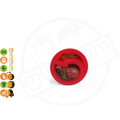 The First Years CARS Toddler Sectioned Plate Red