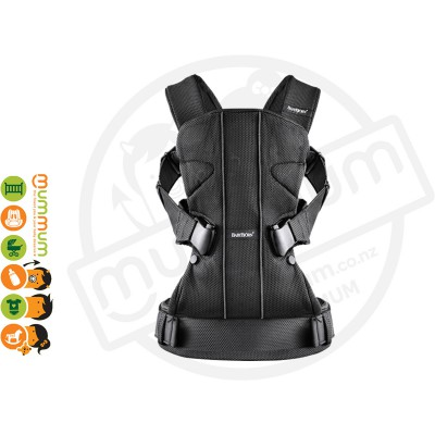 BabyBjorn The ONE Black Mesh Baby Carrier