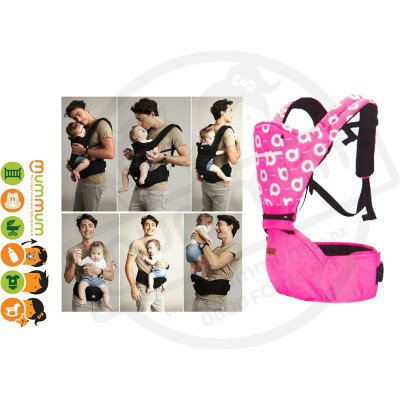 Aiebao Hipseat Carrier Pink