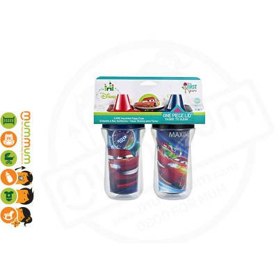 The First Years Cars 2 Insulated Sippy Cups 9oz (2pk)