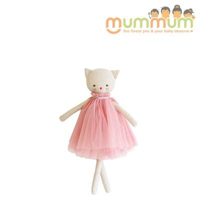 Alimrose Aurelie Linen Cat Doll 48cm Blush