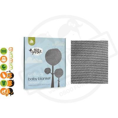 Eco Sprout Organic Cotton Cellular Bassinet Blanket – Dove Grey 100 x 80cm