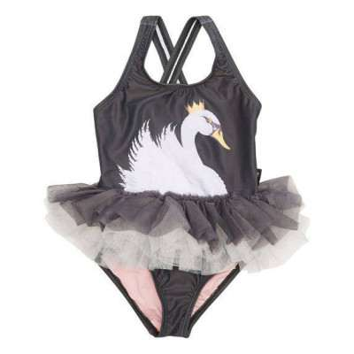 Rock Your Baby Swimming Togs Tulle One Piece Swan Lake 12M-7Y Rock Your Kid
