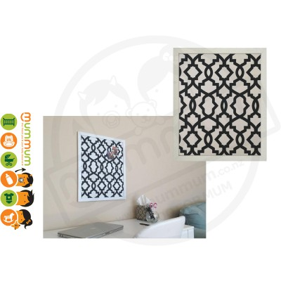 Maggie Magnetic Board - Charcoal Sheffield Geometric