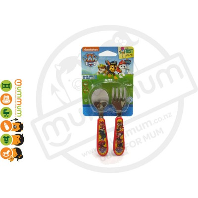 The First Years Paw Patrol Chase Easy Grasp Flatware